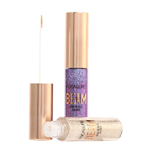 Liquido Eyeliner clifcragrocl,Glitter Eyeliner Brush Trucco waterproof Long Lasting Shimmer Liquid Eyeliner - 5#