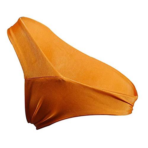 Sharplace Damen Hipster T-Back Milchseide Bikini Slip Bikinihose Badeslip brazilian Unterwäsche Panty, Größe Auswahl - Dunkelorange, S - 4