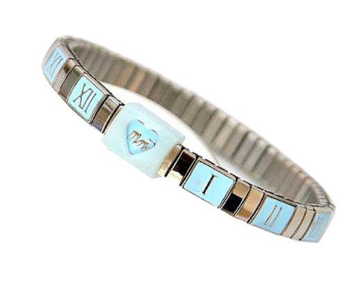 Mother 's Minder Stillen Armband Metall, blau