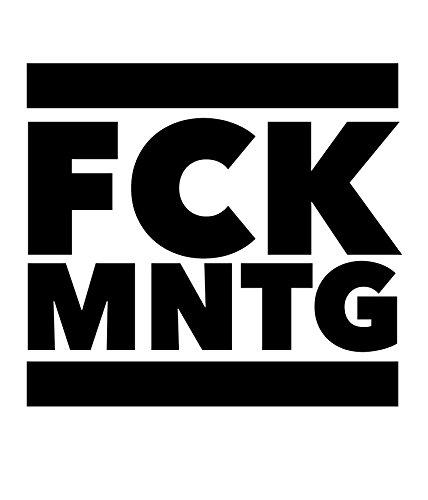 Bedrucktes Herren T-Shirt mit Spruch FCK MNTG Weiß