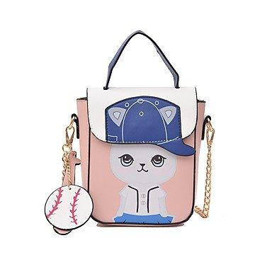 SUNNY KEY-Borsa a tracolla @ Donna Borsa a tracolla PU (Poliuretano) Per tutte le stagioni Baguette Cerniera Blu Nero Rosa , blue blushing pink