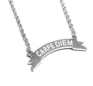 Miniature Carpe Diem bannière collier Sil (Seize the Day)