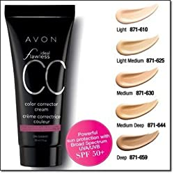 Avon Ideal Flawless Color Correcting Cream Cc Cream Light