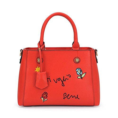 GBT Handtaschen Stickerei Damenbeutel Fashion Schultertaschen Women 's Freizeit Taschen Pink