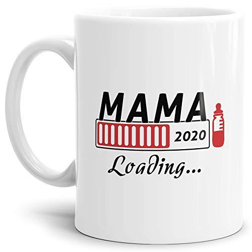 """Geschenk-Tasse\""""Du wirst Mama 2020\"""" - Loading/Lade-balken/Schwangerschaft/Baby/Enkel/Nichte/Neffe/Enkelin/Weiss"""