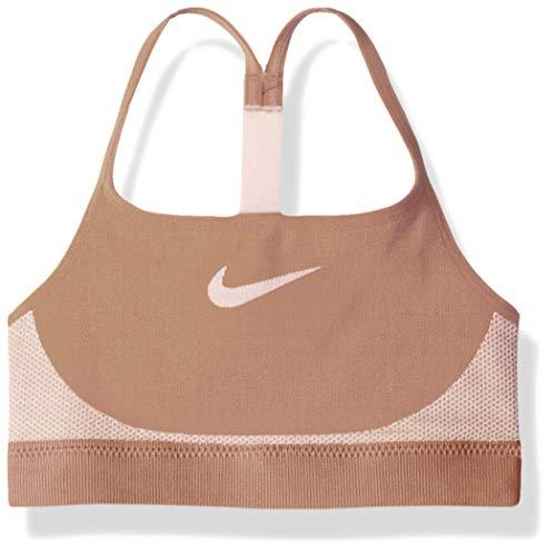 Nike Damen Girl's Bra Seamless BH, Rose Gold Pink Foam, Small (Nike Spandex Für Frauen)