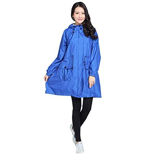 Poncho Dünn Und Leicht Atmungsaktiv Kunststoff Einfach Draussen Zu Fuß Regen- Und Winddicht (Color : Blue, Size : 87X105X59CM) ()
