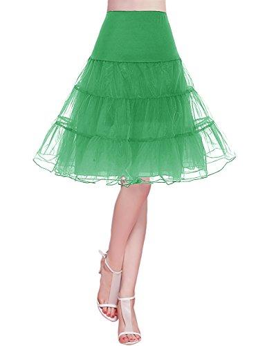bridesmay 1950 Reifrock Petticoat Unterrock Underskirt Crinoline Rockabilly Kleid Green XL