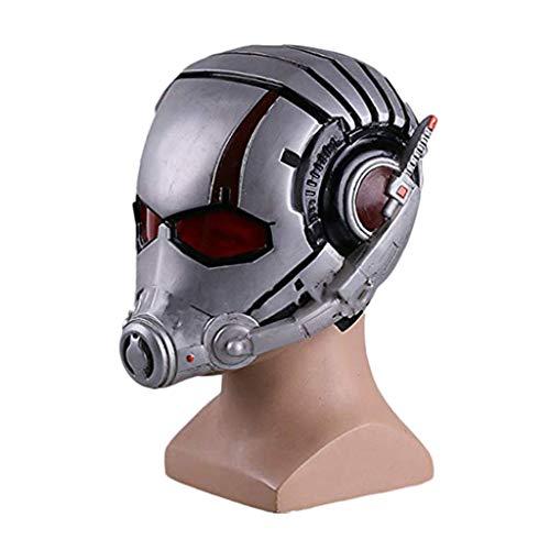 GanSouy Ant-Man und die Wasp, Ant-Man-Maske Marvel Legends Serie Cosplay Maske - Perfekt für Karneval und Halloween - Kostüm für Erwachsene - PVC, Unisex,Ant Man-<60cm (Ant Mann Wasp Kostüm)