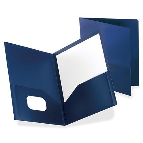 Twin-Pocket Polypropylene Portfolio, Dark Blue
