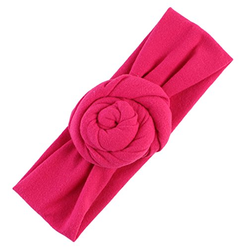 Sharplace Nette Kinder Mädchen Baby Kleinkind Knoten Stirnband Haarband Zubehör Headwear Rot - Pink