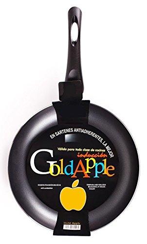 Gold Apple – Sartén de revestimiento liso antiadherente vitro-inducción 3 mm –...