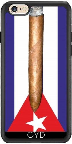 Leder Flip Case Tasche Hülle für Apple iPhone 6/6S - Flagge Kuba Zigarren by hera56 Silicone
