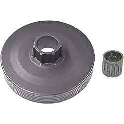 Générique Tambour d'embrayage de tronçonneuse de gaz W/aiguille roulement pour 45cc 52cc 4500 5200 5800 MT-9999 tronçonneuse chinois