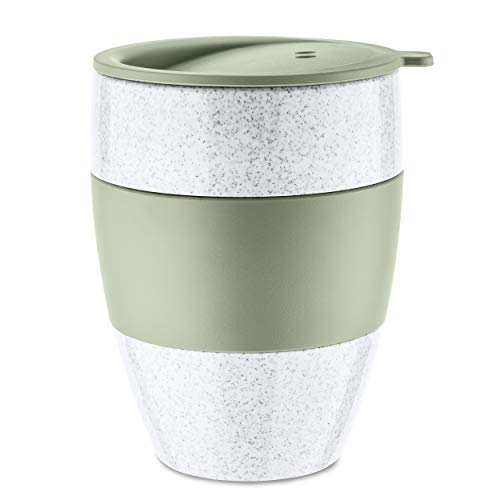 Koziol Unisex- Erwachsene Aroma 2.2 Thermobecher, Thermotasse, Kaffeebecher, Isolierbecher, Coffee-to-go, organic pink, One Size