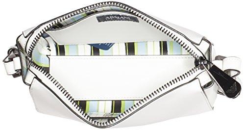 Armani Jeans9 221767p757, Borsa a tracolla Donna, 9x16x21 cm (B x H x T) Bianco (Bianco 00010)