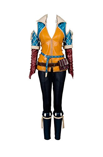 Geralt Witcher Kostüm 3 - The Witcher 3 Wild Hunt Triss Outfit Cosplay Kostüm Damen L