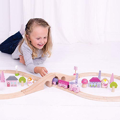 Bigjigs Rail Wooden Fairy Figure of Eight Train Play Set