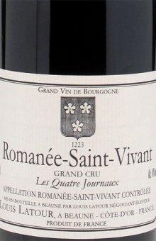 """Louis Latour, Romanée St. Vivant Grand Cru """"Les Quatre Journaux"""" 2011"""