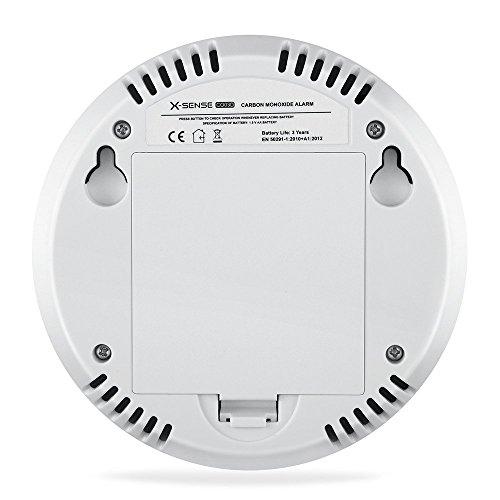 X-Sense CO03D CO Melder Kohlenmonoxid CO-Detektor Batteriebetrieben Sensor und Alarm mit Digitalanzeige und Höchstwertspeicherung - 5