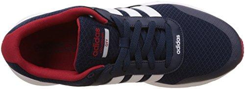 adidas Cloudfoam VS City, Chaussures de Running Entrainement Homme Bleu (Maruni/ftwbla/rojpot)