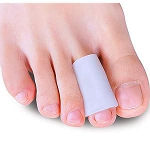 Sumiwish [10x] Zehenschutz Silikon, Soft Zehenschutz Zeh Für Damen und Herren Mittlere Zehe Protektoren