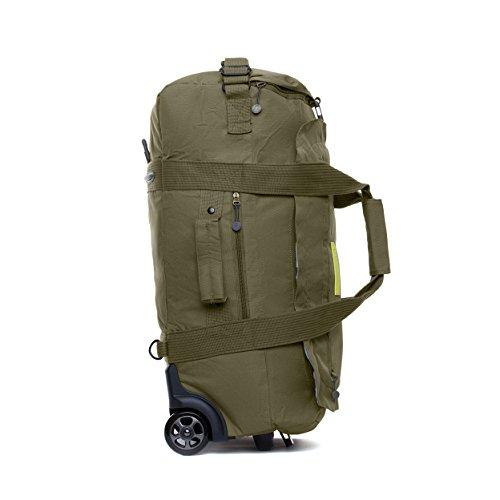 Imagen de eco maleta plegable con ruedas convertible a  hecha de material reciclado rpet. oliva  alternativa