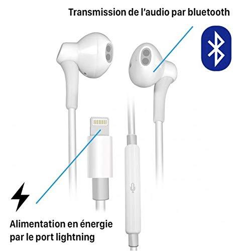 Gagawin Auricolari in Ear, Auricolari con Microfono, Isolamento del Rumore, Alta Definizione Compatible avec iPhone 7 / 7Plus / 8 / 8Plus / X 10 / iPhone XS Max/XS/XR (1 Pack)