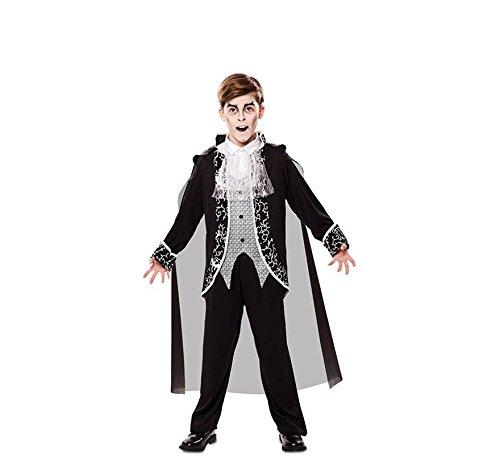 EUROCARNAVALES Jungen Kostüm Vampir Nathan Kinderkostüm Fledermaus Halloween Gothic Vampirumhang Karneval (7-9 ()