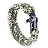 YIYIYYA Camping en Plein Air d'urgence Survie Bracelet Bracelet Corde Tressé en...
