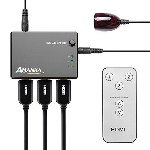 AMANKA HDMI Switch Conmutador HDMI Soporta Resolución
