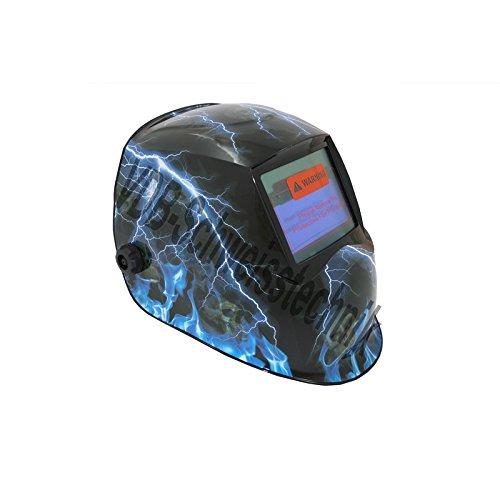 Automatik Schweißhelm Design: Storm mit Solarzelle + Batterie CR2032