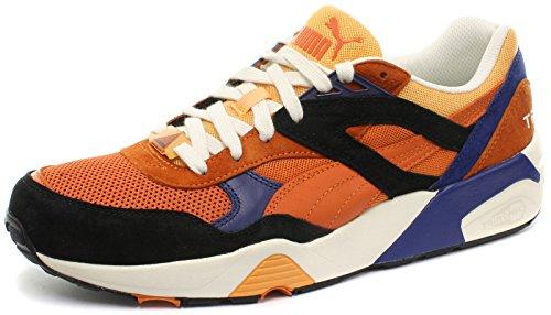Puma R698 Uomo Sneaker burnt orange-black