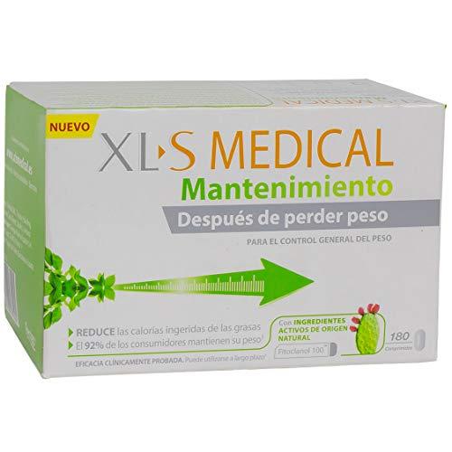 """XLS Medical Mantenimiento - 180 comprimidos - Ayuda a mantener su peso tras una pérdida de peso inicial, ayudando a evitar las consecuencias del efecto""""yo-yo"""". Ingredientes activos de origen natural."""