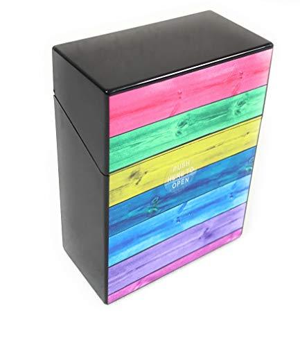 Ventilkappenkönig Zigarettenbox 30er Zigaretten Big Box Zigarettenschachtel Groß 30 Stück Zigarettenetui dreißig (Buntgroß)