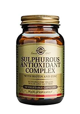 Solgar Sulphurous Antioxidant Complex Vegetable Capsules, 90