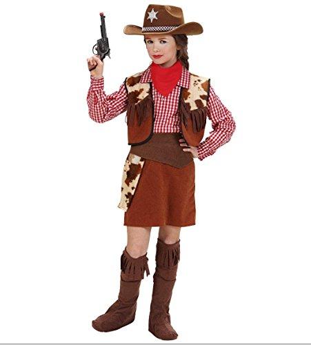 Imagen de widman  disfraz de vaquera para niña, talla 10 58817  alternativa