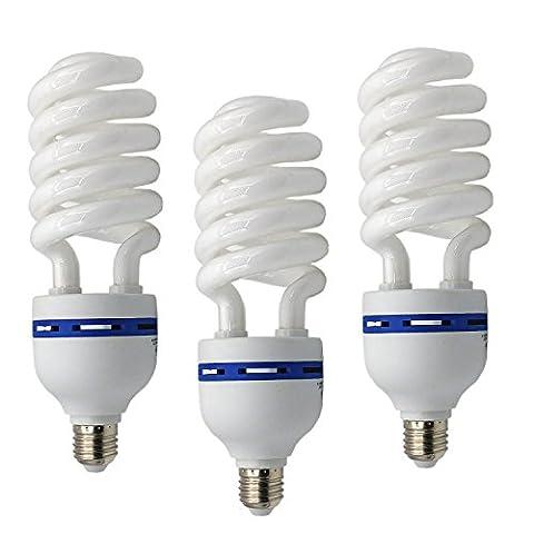 3x Fotolampe Spirallampe Energiesparlampe Tageslicht SYD 45 200W Tageslichtlampe