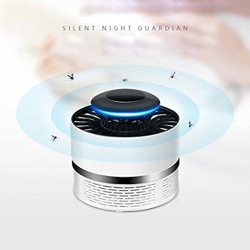 Holeider Insektenvernichter Elektrischer UV Moskito Killer Mosquito Lampe Mückenstich Elektro 5W USB Mückenschutz Mückenfalle Insektenfalle für 30m² Innen Aussen Camping (Weiß)