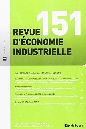 Revue économie industrielle N° 153 3/2015