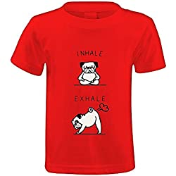Chas Inhale Exhale Pug Unisex Crew Neck Personalized T-shirt XL/150
