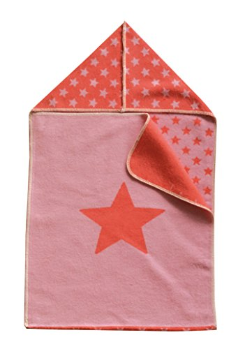 Fussenegger Puckdecke mit Kapuze Stern rosa/rot