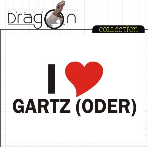 T-Shirt mit Städtenamen - i Love Gartz (Oder) - Herren - unisex Weiß