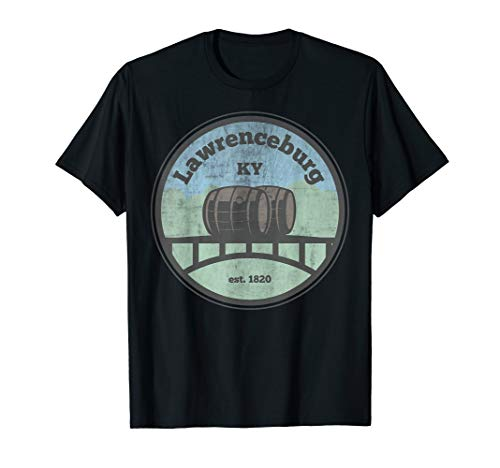 Distressed Lawrenceburg Kentucky Bourbon  T-Shirt -