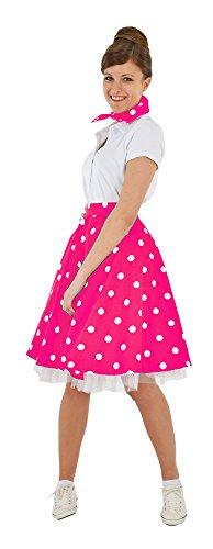 Tellerrock mit Halstuch Pink Weiß Gr. M