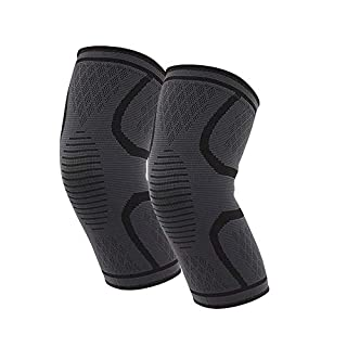 FOONEE Silicone Non-slip Knee Pads, Knee Brace Support Compression Sleeves for Joint Pain, Support for Arthritis, ACL, Running, Biking, Basketball Sports