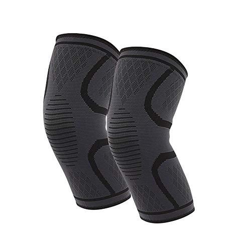 FOONEE Silikon Anti-Rutsch Knieschoner Atmungsaktiv Anti-Rutsch Elastische Kniebandage für Laufen, Sport, Arthritis, Meniskusrisriss, Schmerzlinderung, Schmerzlinderung