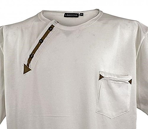 Übergrössen !!! WOW !!! Hippes T-Shirt Kurzarm LAVECCHIA 3 Farben LV-116 ecru-beige