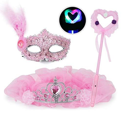 Fairy Kostüm Von Prinzessin Bilder - HongTeng Halloween Maske Party Dekoration Maske Prinzessin Schleier Fairy Sticks Luminous