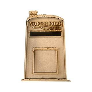 PixieBitz Christmas Santa Party Post Box - Snow Caps - Father Christmas Mailbox